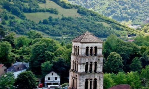 Zdjęcie BOśNIA i HARCEGOWINA / centralna Bośnia / Jajce / Jajce-fragment twierdzy z romańską dzwonnicą