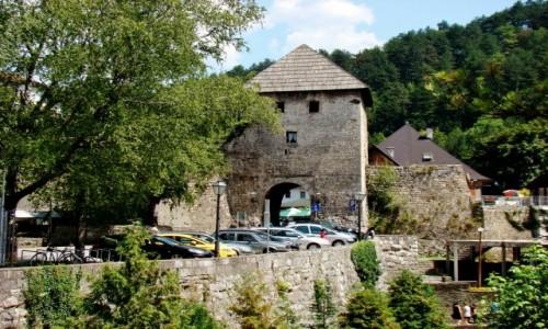 Zdjęcie BOśNIA i HERCEGOWINA / centralna Bośnia / Jajce / Jajce-fragment twierdzy
