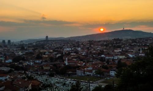 Zdjecie BOśNIA i HARCEGOWINA / Sarajewo / Żółta Twierdza / Panorama Saraje