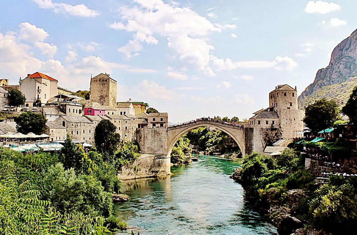 Zdjęcia: Mostar, Hercegowina, Most w Mostarze, BOśNIA i HERCEGOWINA