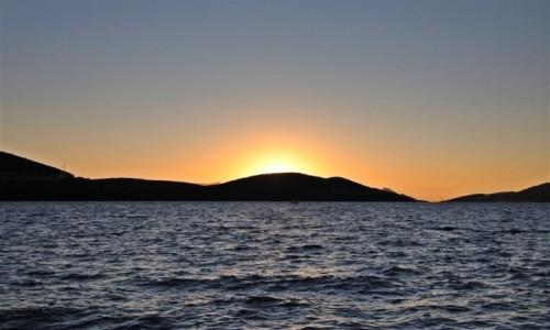Zdjecie BOśNIA i HERCEGOWINA / - / Neum / zachód słońca nad Półwyspem Peljesac