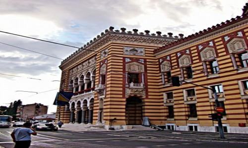 Zdjecie BOśNIA i HERCEGOWINA / Republika Serbska / Sarajewo / Sarajewo-ratusz z 1895 roku