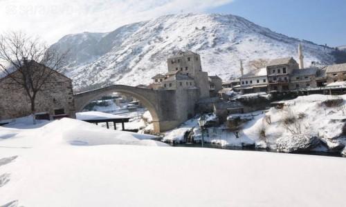 Zdjecie BOśNIA i HERCEGOWINA / hercegowina / mostar stari grad / Zimowy Mostar