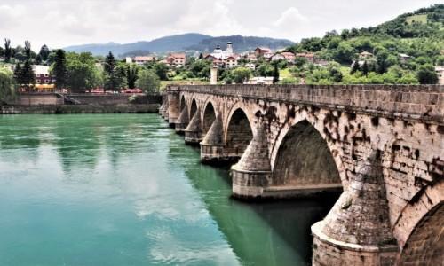 Zdjecie BOśNIA i HERCEGOWINA / - / Višegrad / most na Drinie...