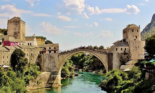 Zdjecie BOśNIA i HERCEGOWINA / Hercegowina / Mostar / Jak Mostar-to most