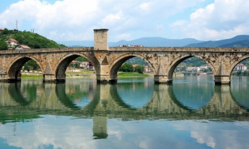 Zdjecie BOśNIA i HERCEGOWINA / Republika Serbska / Višegrad / most na Drinie...