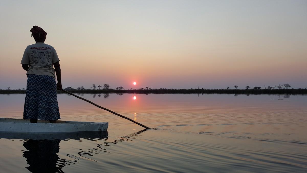 Zdjęcia: Delta Okavango, Cudowny zachód słońca, BOTSWANA
