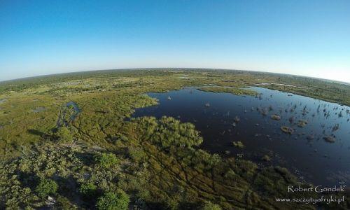 BOTSWANA / Delta Okavango / Delta Okavango / Z góry