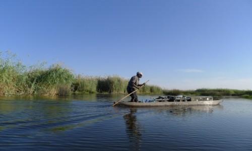 Zdjęcie BOTSWANA / Północna Botswana  / Delta Okawango / Wodna przeprawa na Delcie Okawango