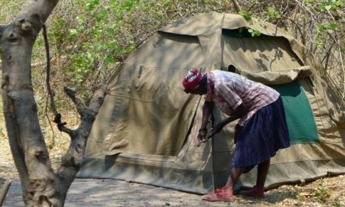 Zdjęcie BOTSWANA / Północna Botswana  / Delta Okawango/ obozowisko / Wszystko dopięte