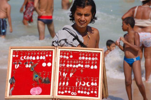 Zdjęcia: Rio de Janeiro, Sprzedawca na plaży, BRAZYLIA