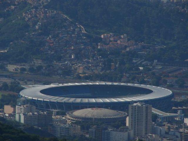 Zdjęcia: Widok z Corcovado, Rio de Janeiro, Widok na Maracanę, BRAZYLIA