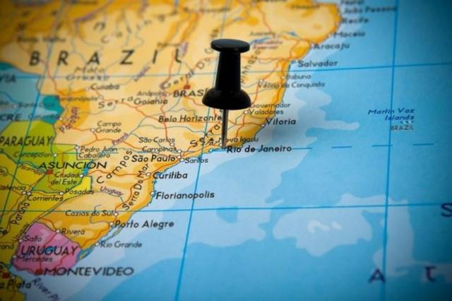 Zdjęcia: Rio de Janeiro, Brazylia, Mapa, BRAZYLIA