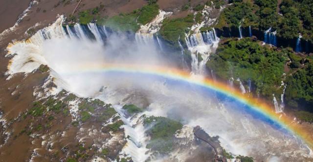 Zdjęcia: Foz do Iguacu , Parana, Iguacu z tęczą, BRAZYLIA