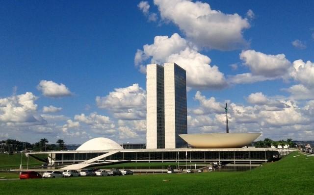 Zdjęcia: Brasília, Dystrykt Federalny, Budynek Kongresu Narodowego Brazylii, BRAZYLIA
