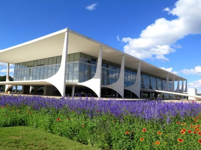 Zdjęcia: Brasília, Dystrykt Federalny, Palácio do Planalto – oficjalna siedziba prezydenta Brazylii , BRAZYLIA