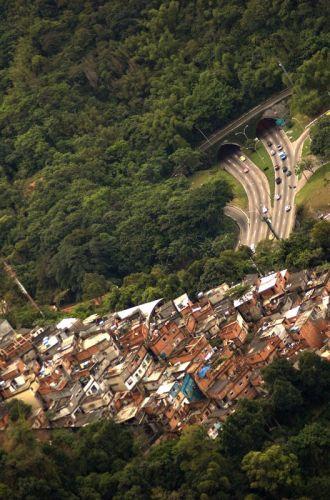 Zdj�cia: Rio de Janeiro, Favelas, BRAZYLIA