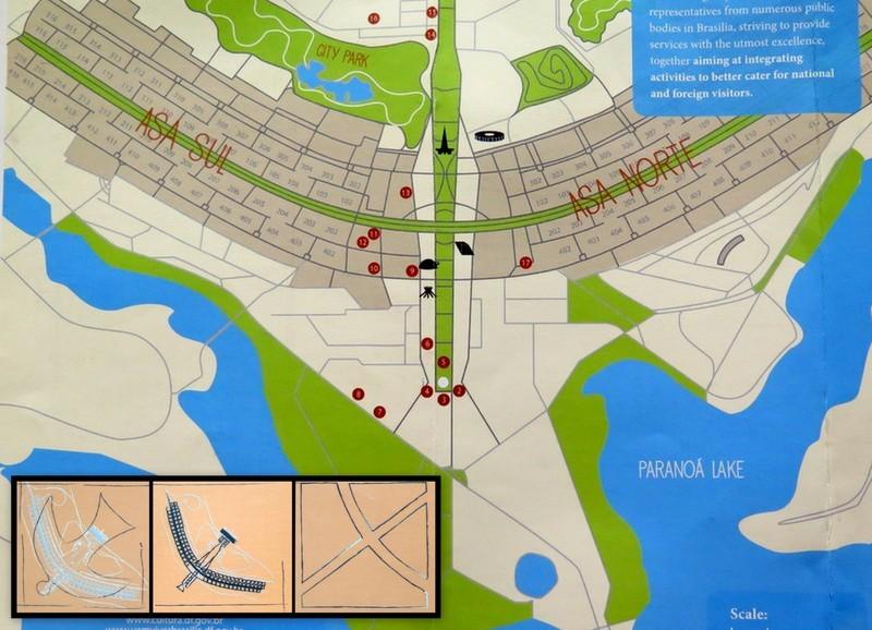 Zdjęcia: Brasília, Dystrykt Federalny, Plan Brasílii. Autor Lúcio Costa., BRAZYLIA