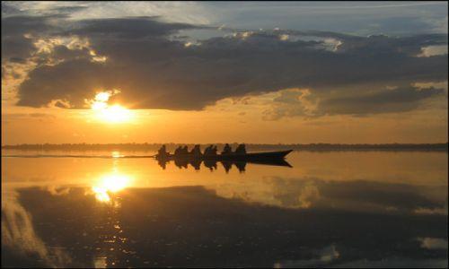 Zdjecie BRAZYLIA / Amazonia / dorzecze Rio Negro / świt nad Rio Negro