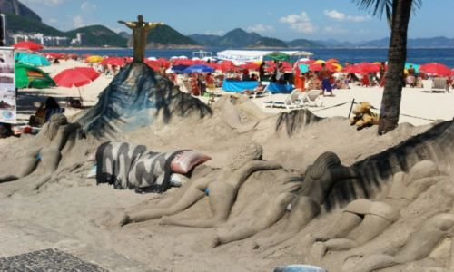 Zdjecie BRAZYLIA / Plaża Copacabana / Rio de Janeiro / Copacabana