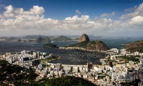 Zdjęcie BRAZYLIA / RIO DE JANEIRO / ZATOKA GUANABARA / Pocztówka z Rio