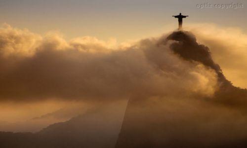 Zdjęcie BRAZYLIA / RIO DE JANEIRO / CORCOVADO / Pocztówka z Rio