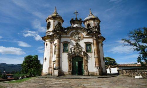 BRAZYLIA / Minas Gerais / Ouro Preto / Kościół św. Franciszka