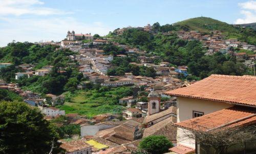 Zdjęcie BRAZYLIA / Minas Gerais / Ouro Preto / Ouro Preto - dzielnica Santa Efigenia