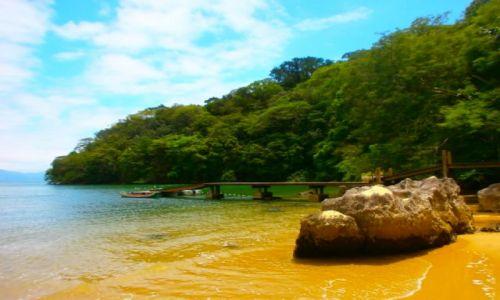 Zdjecie BRAZYLIA / Ilha Grande / Na jednej z dzikich plaz / Jak cudnie mi