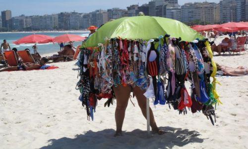 Zdjecie BRAZYLIA / Rio de Janerio / Rio de Janerio / Handelek z parasola