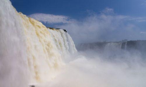Zdjęcie BRAZYLIA / Park Wodospadów Iguazu / jw / W Diabelskiej Gardzieli