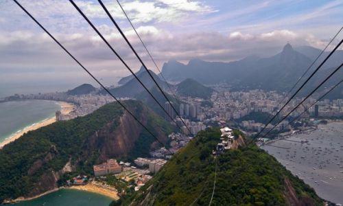 Zdjecie BRAZYLIA / Rio de Janeiro / widok z Głowy Cukru / Rio caluśkie