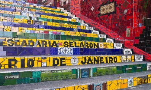 Zdjęcie BRAZYLIA / Rio de Janeiro / Lapa / Schody