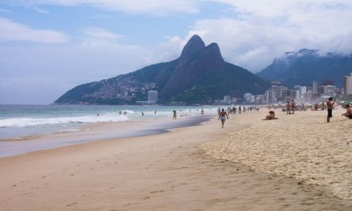 Zdjecie BRAZYLIA / Rio de Janeiro / Ipanema beach / Królowa plaż
