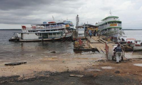 Zdjecie BRAZYLIA / Amazonia / Manaus / Port w Manaus