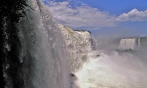 Zdjęcie BRAZYLIA / Parana / Wodospady Iguazu, strona brazylijska / Na skraju welonu