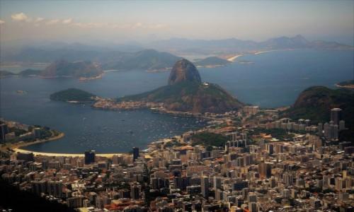 Zdjęcie BRAZYLIA / Rio de Janeiro / Widok spod figury Chrystusa / Rio na starej pocztówce