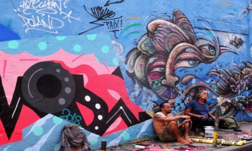 BRAZYLIA / Rio de Janeiro /  Lapa / LAPA - dzielnica artystów i uciech wszelakich