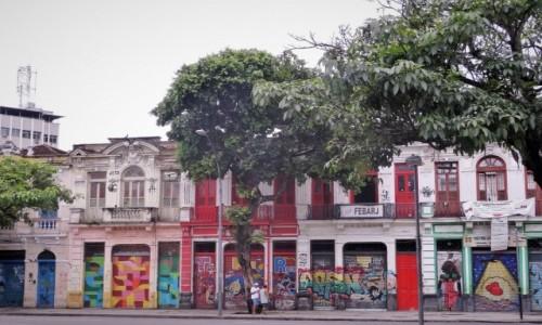 Zdjecie BRAZYLIA / Rio de Janeiro / Lapa / Uliczka na Lapie