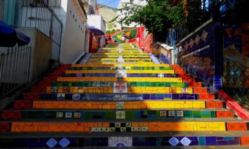 Zdjecie BRAZYLIA / RJ / Rio de Janeiro / Schody Selarón