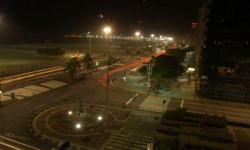 Zdjęcie BRAZYLIA / RIO DE JANEIRO / COPACABANA / RIO NOCĄ