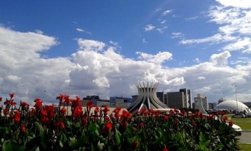 Zdjecie BRAZYLIA / Dystrykt Federalny / Brasília / Aleja Ministerstw/katedra NMP z Aparecidy
