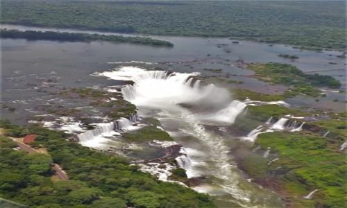 BRAZYLIA / Corientes / Iguasu / Iguacu -lot śmiglowcem