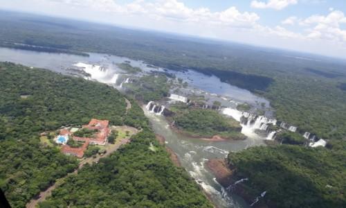 BRAZYLIA / Misiones / Foz do Iguacu / Śmigłowcem nad Iguasu