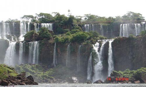 Zdjecie BRAZYLIA / Foz de Iguazu / Foz de Iguazu / spokojne Iguazu