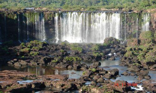 Zdjecie BRAZYLIA / Foz de Iguazu / Foz de Iguazu / spokojna część Iguazu