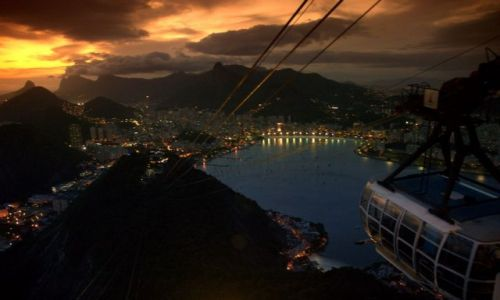 Zdjecie BRAZYLIA / brak / Rio de Janeiro / Zahcód słońca nad Rio de Janeiro, widok z