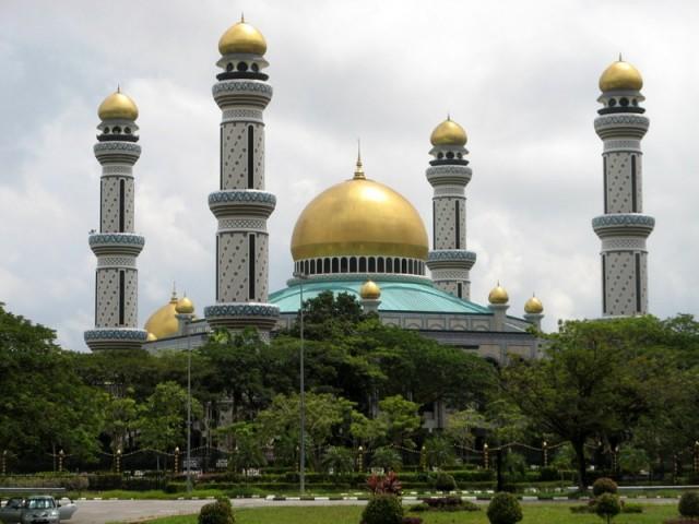 Zdjęcia: Bandar Seri Begawan, Borneo, Meczet Jame'Asr Hassanal Bolkiah, BRUNEI