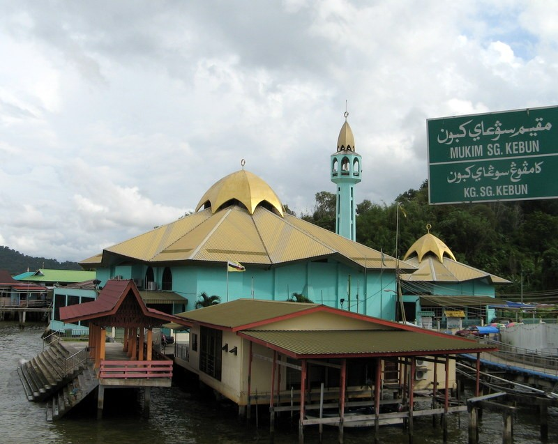Zdjęcia: Bandar Seri Begawan, Borneo, Meczet w Kampong Ayer , BRUNEI