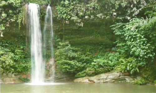 BRUNEI / Teraja Forest Reserve / Sungai Teraja / Wodospad Teraja